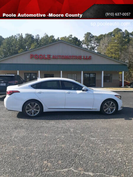 2018 Genesis G80 for sale at Poole Automotive in Laurinburg NC