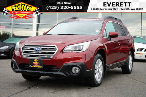 2016 Subaru Outback for sale at West Coast Auto Works in Edmonds WA