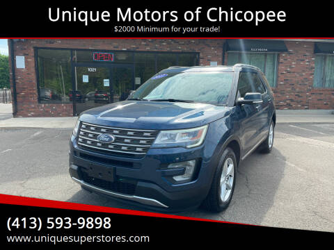 2017 Ford Explorer for sale at Unique Motors of Chicopee in Chicopee MA