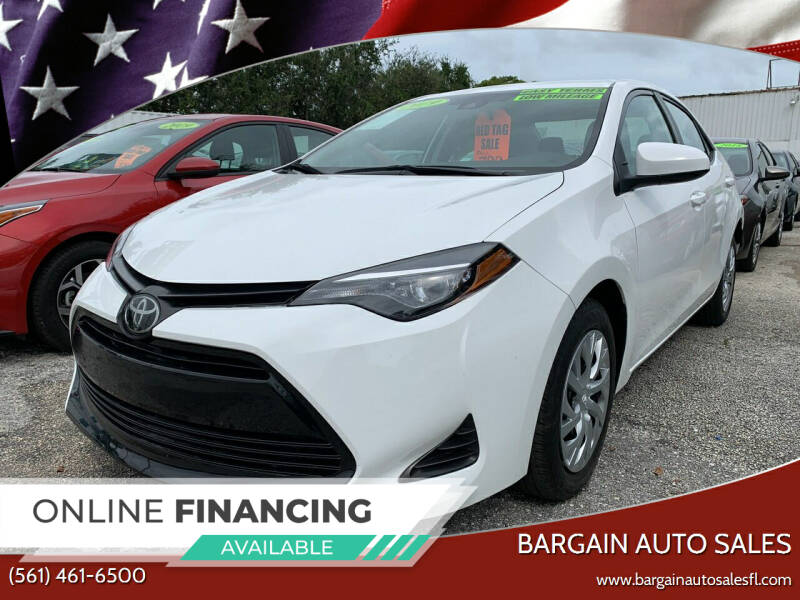 2019 Toyota Corolla for sale at Bargain Auto Sales in West Palm Beach FL