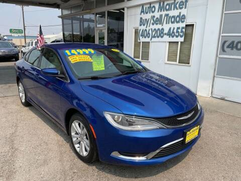 2015 Chrysler 200 for sale at Auto Market in Billings MT