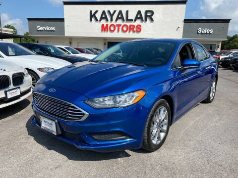 2017 Ford Fusion for sale at KAYALAR MOTORS in Houston TX