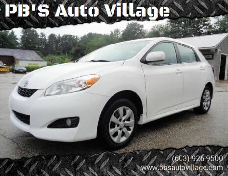 2013 Toyota Matrix for sale at PB'S Auto Village in Hampton Falls NH