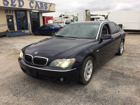 2008 BMW 7 Series for sale at BSA Used Cars in Pasadena TX