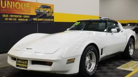 1980 Chevrolet Corvette for sale at UNIQUE SPECIALTY & CLASSICS in Mankato MN