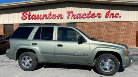 2004 Chevrolet TrailBlazer for sale at STAUNTON TRACTOR INC in Staunton VA