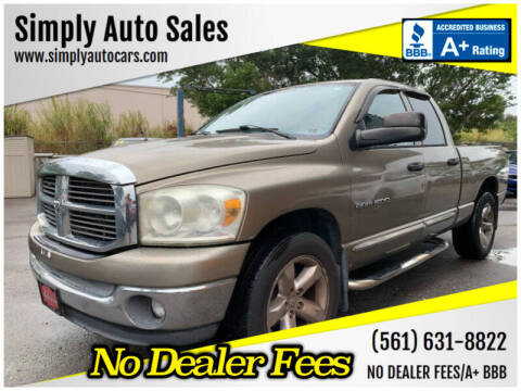 2007 Dodge Ram Pickup 1500 for sale at Simply Auto Sales in Palm Beach Gardens FL