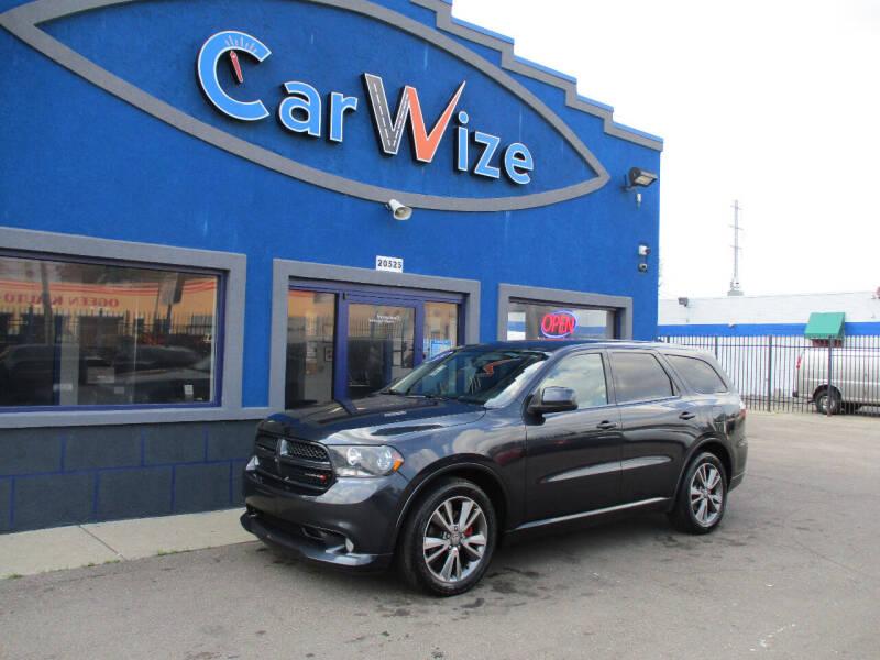 2013 Dodge Durango for sale at Carwize in Detroit MI
