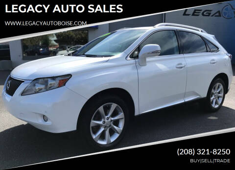 2011 Lexus RX 350 for sale at LEGACY AUTO SALES in Boise ID