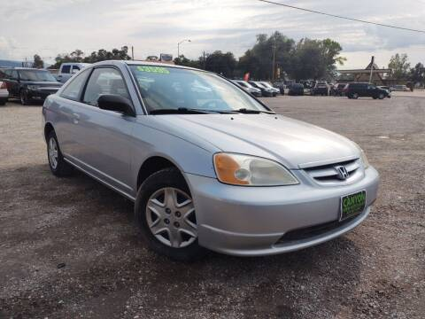 2003 Honda Civic for sale at Canyon View Auto Sales in Cedar City UT
