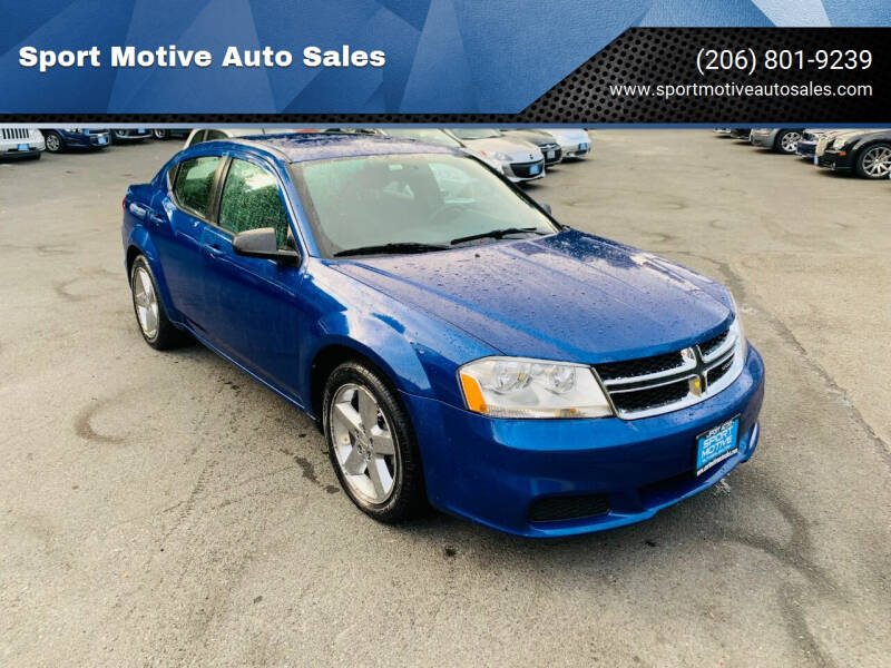 2013 Dodge Avenger for sale at Sport Motive Auto Sales in Seattle WA