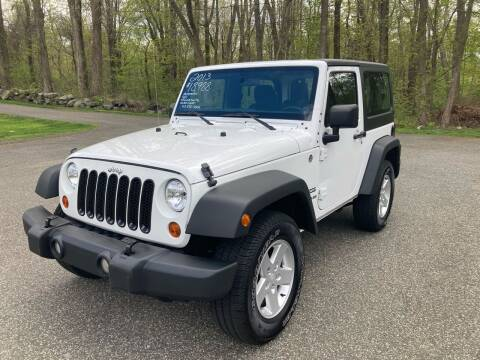 2013 Jeep Wrangler for sale at Lou Rivers Used Cars in Palmer MA