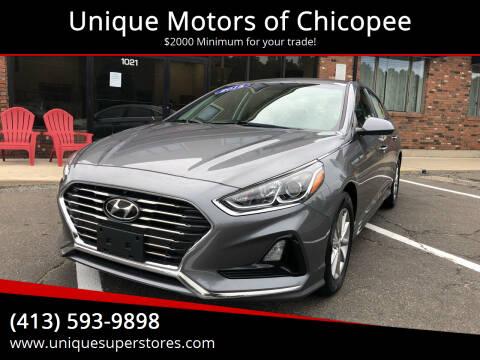 2018 Hyundai Sonata for sale at Unique Motors of Chicopee in Chicopee MA