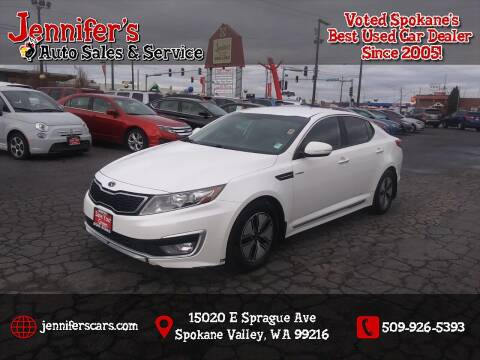 2013 Kia Optima Hybrid for sale at Jennifer's Auto Sales in Spokane Valley WA