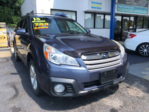 2014 Subaru Outback for sale at Highline Motors in Aston PA