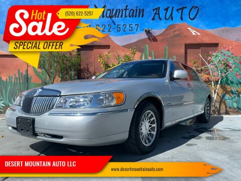2001 Lincoln Town Car for sale at DESERT MOUNTAIN AUTO LLC in Tucson AZ