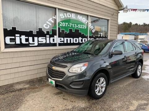 2017 Chevrolet Equinox for sale at CITY SIDE MOTORS in Auburn ME