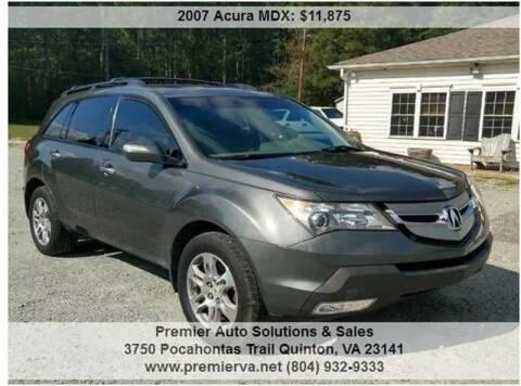 2007 Acura MDX for sale at Premier Auto Solutions & Sales in Quinton VA
