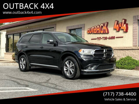 2016 Dodge Durango for sale at OUTBACK 4X4 in Ephrata PA
