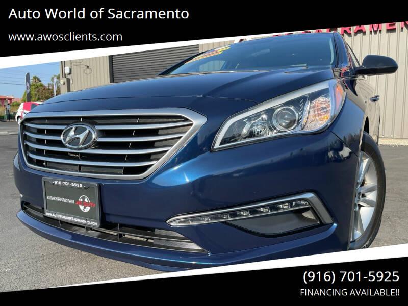 2015 Hyundai Sonata for sale at Auto World of Sacramento Stockton Blvd in Sacramento CA