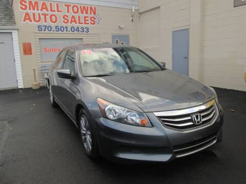 2012 Honda Accord for sale at Small Town Auto Sales in Hazleton PA