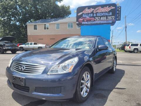 2008 Infiniti G35 for sale at Auto Outlet Sales and Rentals in Norfolk VA