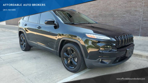 2018 Jeep Cherokee for sale at AFFORDABLE AUTO BROKERS in Keller TX