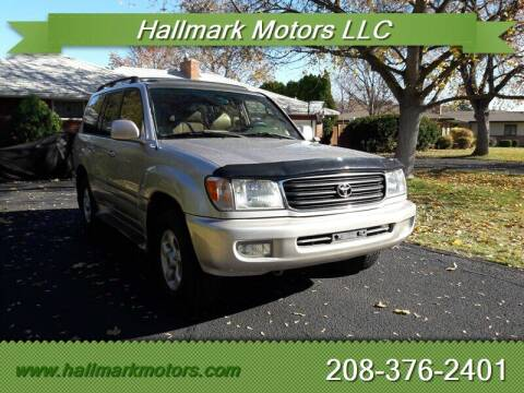 2000 Toyota Land Cruiser for sale at HALLMARK MOTORS LLC in Boise ID