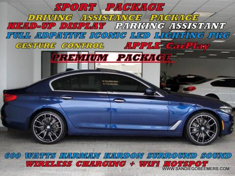 2017 BMW 5 Series for sale at SAN DIEGO BEEMERS in San Diego CA