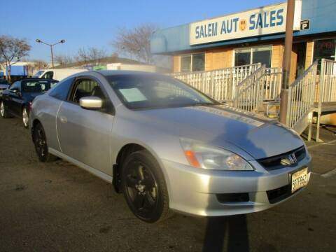 2006 Honda Accord for sale at Salem Auto Sales in Sacramento CA