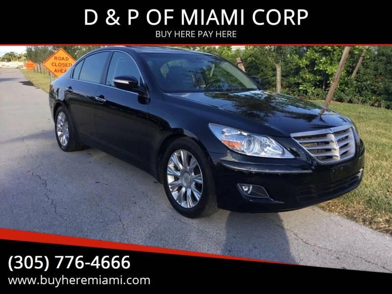 2010 Hyundai Genesis for sale at D & P OF MIAMI CORP in Miami FL