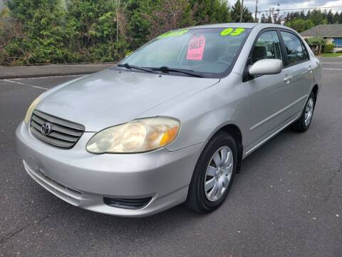 2003 Toyota Corolla for sale at TOP Auto BROKERS LLC in Vancouver WA
