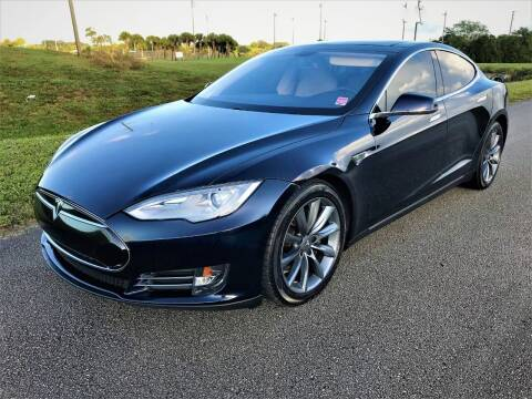 2013 Tesla Model S for sale at DENMARK AUTO BROKERS in Riviera Beach FL