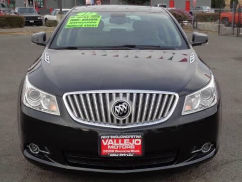 2012 Buick LaCrosse for sale at Vallejo Motors in Vallejo CA