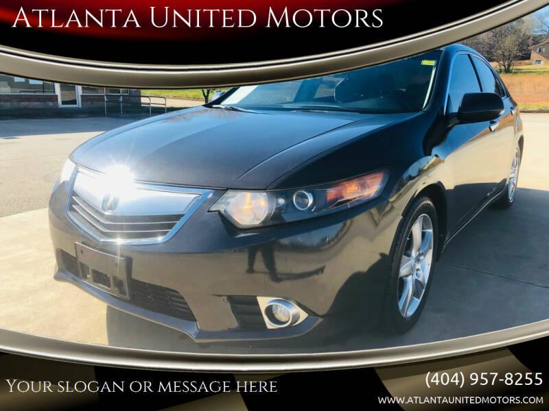 2013 Acura TSX for sale at Atlanta United Motors in Jefferson GA
