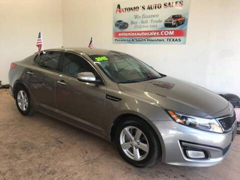 2015 Kia Optima for sale at Antonio's Auto Sales - Antonio`s  2206 in Pasadena TX