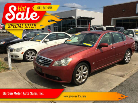 2006 Infiniti M35 for sale at Gordon Motor Auto Sales Inc. in Norfolk VA
