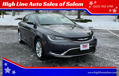 2016 Chrysler 200 for sale at High Line Auto Sales of Salem in Salem NH