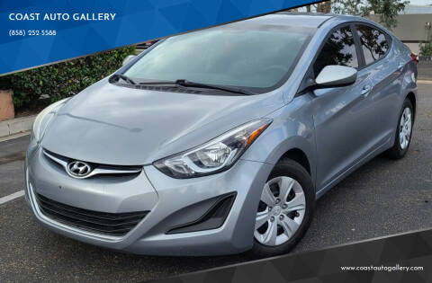 2016 Hyundai Elantra for sale at COAST AUTO GALLERY in San Diego CA