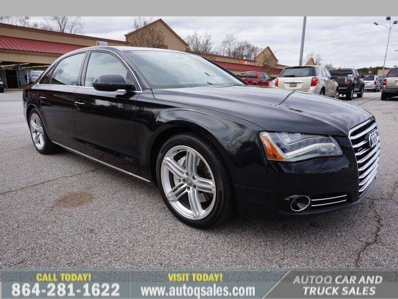 2013 Audi A8 L for sale at Auto Q Car and Truck Sales in Mauldin SC