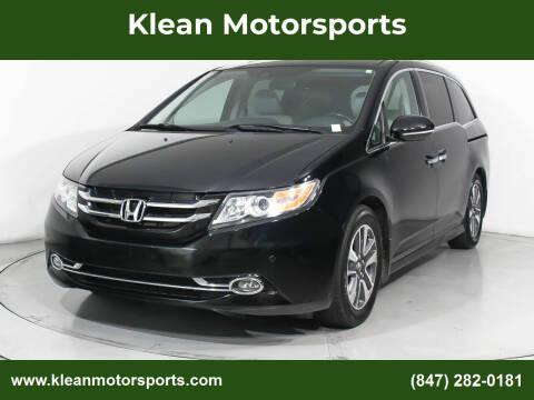 2014 Honda Odyssey for sale at Klean Motorsports in Skokie IL