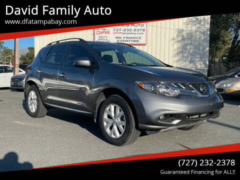 2013 Nissan Murano for sale at David Family Auto in New Port Richey FL