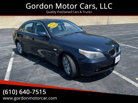 2007 BMW 5 Series for sale at Gordon Motor Cars, LLC in Frazer PA