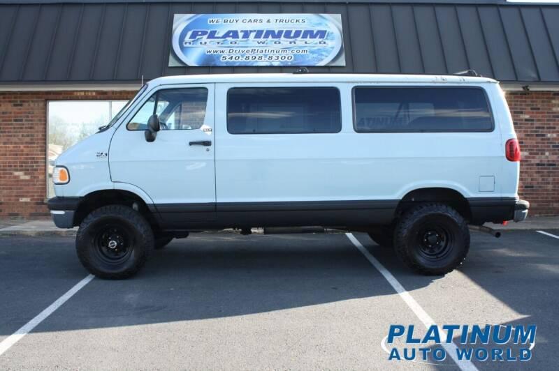 1997 Dodge Ram Wagon for sale at Platinum Auto World in Fredericksburg VA