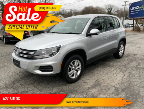 2012 Volkswagen Tiguan for sale at A2Z AUTOS in Charlottesville VA