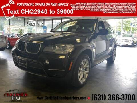 2013 BMW X5 for sale at CERTIFIED HEADQUARTERS in Saint James NY