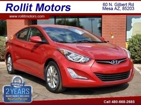 2014 Hyundai Elantra for sale at Rollit Motors in Mesa AZ
