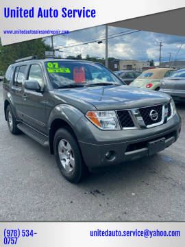 2007 Nissan Pathfinder for sale at United Auto Service in Leominster MA