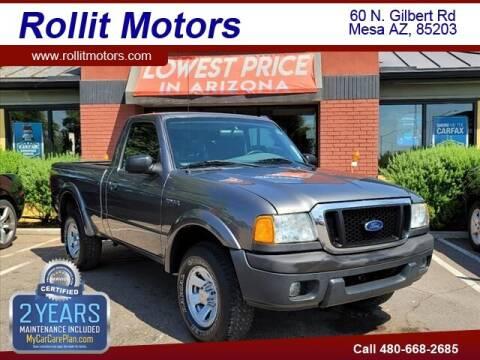 2005 Ford Ranger for sale at Rollit Motors in Mesa AZ