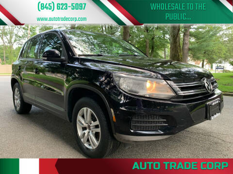 2012 Volkswagen Tiguan for sale at AUTO TRADE CORP in Nanuet NY
